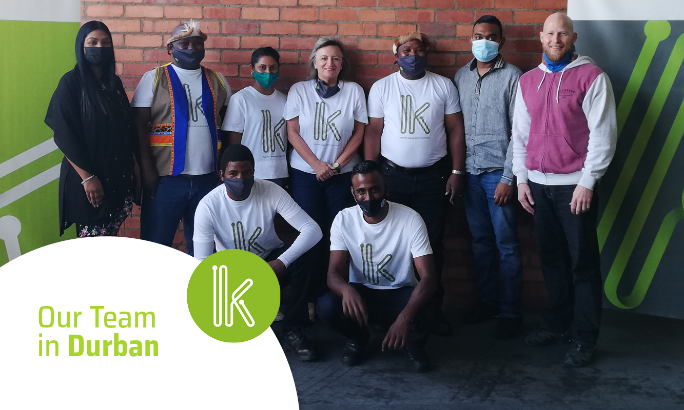 From back, left to right: Noelene Kistan, Professor Gasa, Sarvani Reddy, Shannon Oosthuizen, Mandla Shandu, Keshren Chetty and John Bell. Front row, left to right: Thula Shange and Kreshen Govender.